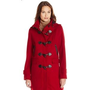 Red Tommy Hilfiger size small wool trench
